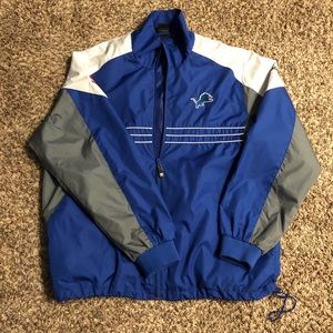 NFL Team Apparel Lions Windbreaker